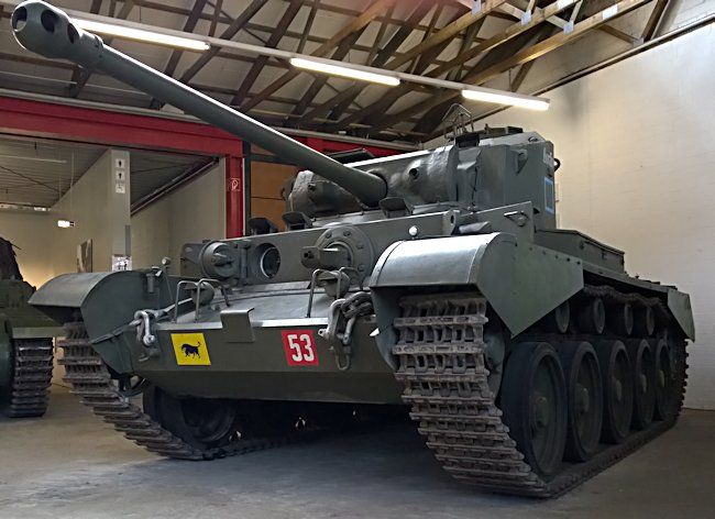 Surviving WW2 A34 British Comet Cruiser Tank at the German Tank Museum in the small military town of Munster, Germany