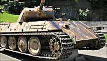 Surviving Battle of the Bulge 1944 Panther Tank in the Belgium village of Houfflaize