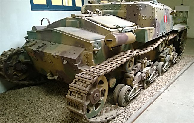 Surviving Semovente M40 Italian Self-propelled Gun