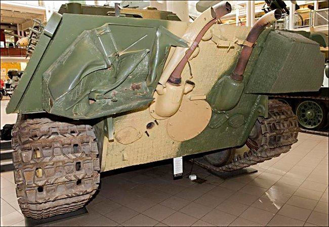 Surviving German WW2 Jagdpanzer V Tank Destroyer at the Imperial War Museum London