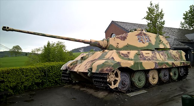Surviving German King Tiger Tank In La Gleize Belgium Ardennes