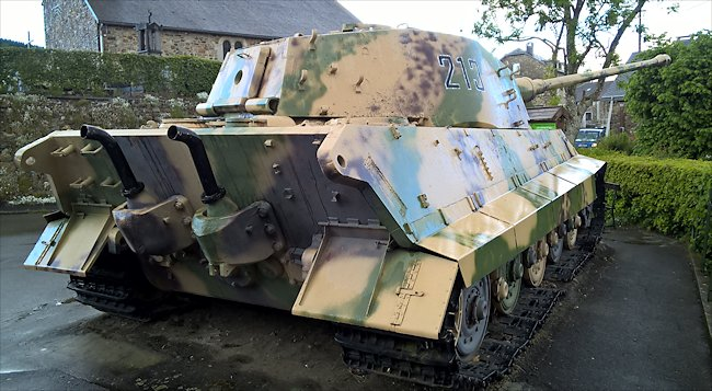 Surviving German King Tiger Tank in the La Gleize, Belgium Ardennes