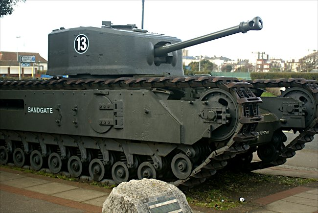 Surviving Churchill Crocodile Flame Thrower D-Day Tank