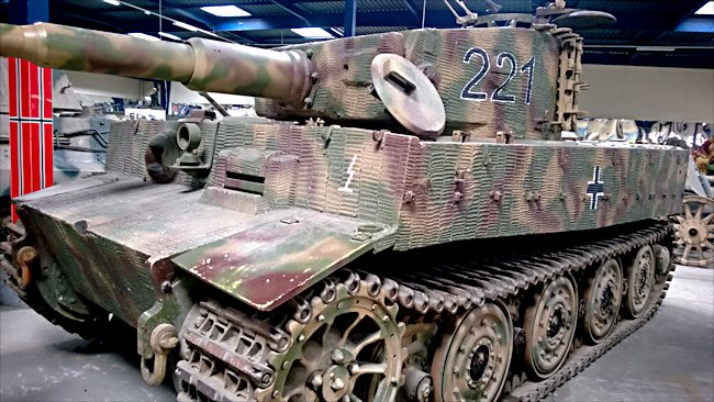 Surviving German Tiger I Ausf. E Heavy Tank panzerkampfwagen VI