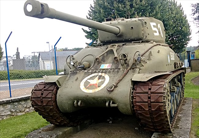 Surviving Sherman Tank M4A1E8 76mm HVSS