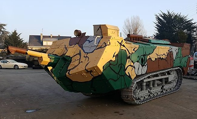 Surviving WW1 French St-Chamond French Heavy Tank