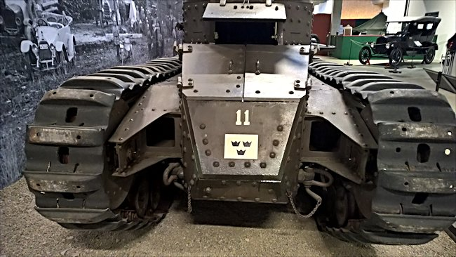 Surviving Swedish fm/28 tank tracks
