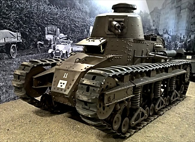 Surviving Swedish fm/28 tank