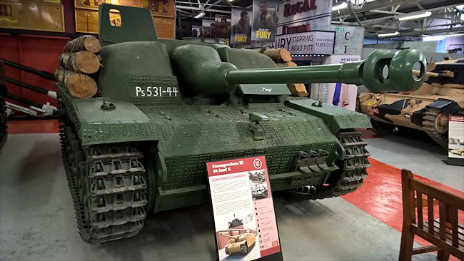 Surviving German StuG III Sturmgeschutz Ausf. G at the Tank Museum, Bovington, England