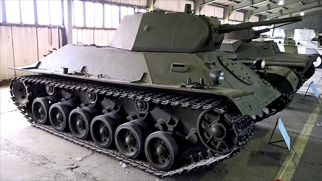 preserved T-50 prototype Light Tank T126SP