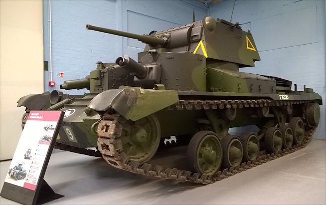 A9 British Cruiser MkI tank at the Tank Museum, Linsay Road, Bovington, Dorset