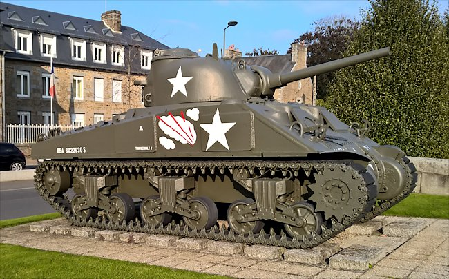 Avranches surviving M4A4T(75) ShermanTank used during D-Day