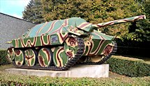 Surviving Battle of the D-Day 1944 Hetzer G-13 Tank Destroyer in Bayeux France
