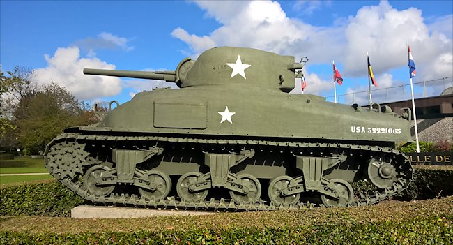 Surviving M4A1 Sherman Tank used in Normandy during D-Day