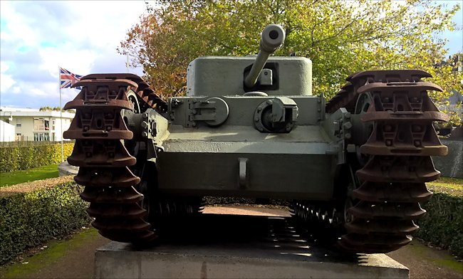 Preserved Churchill Mk VII Flamethrower Tank