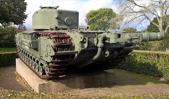Surviving Churchill Mk VII Crocodile Tank