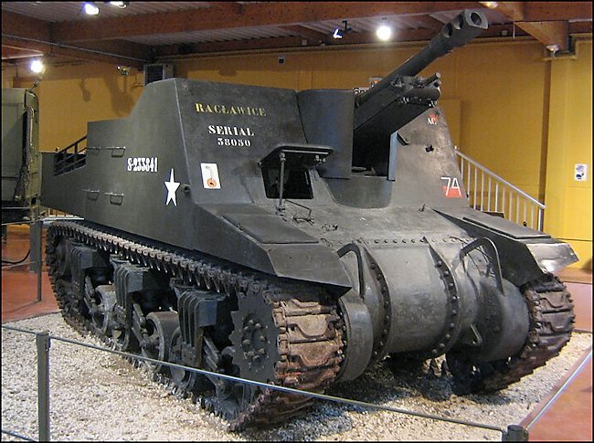 Surviving Sexton Self-propelled Artillery Gun Tank used in Normandy during D-Day
