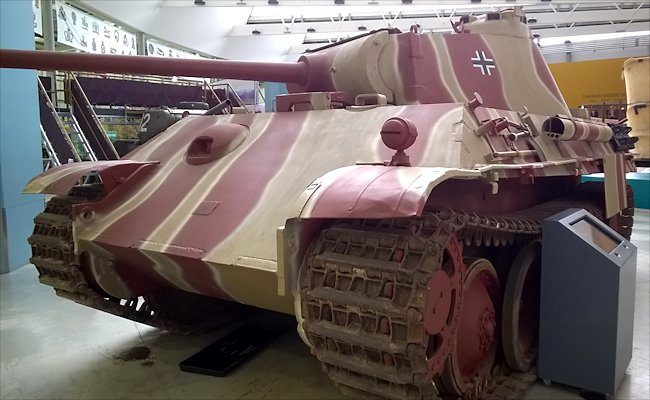 Surviving Panzer V Panther Tank at Bovington Tank Museum England
