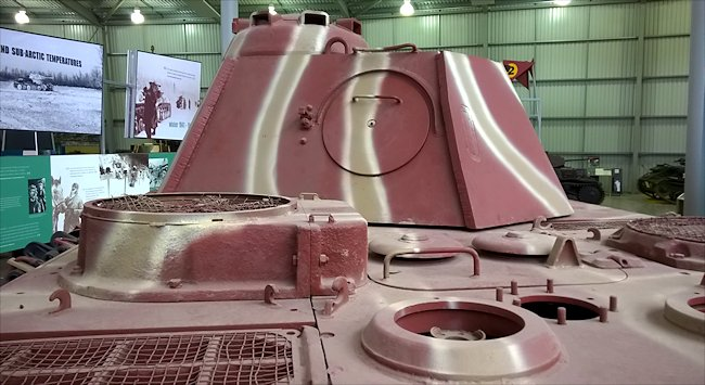 Surviving Panzer V Panther Tank rear turret view