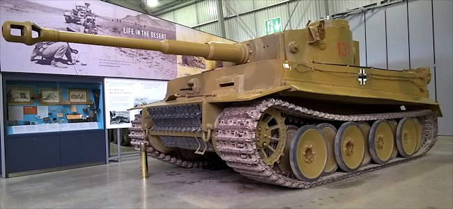 side view of the restored German Tiger I Ausf. E Heavy Tank panzerkampfwagen VI