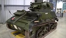 Surviving WW2 Vickers Light Tank MkVI B at Bovington