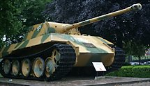 Surviving German WW2 Panther Ausf D Medium Tank in Breda Netherlands