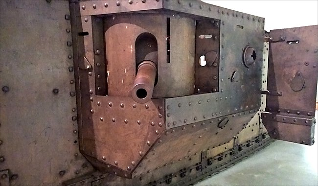 Surviving British WW1 MkIV Male Tank