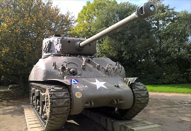 M4A1(76) Sherman tank at Nehou Normandy
