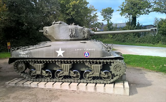 M4A1(76) Sherman tank at Camp Patton