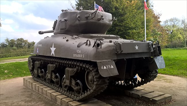 Preserved M4A1(76) Sherman Tank used in Normandy during D-Day