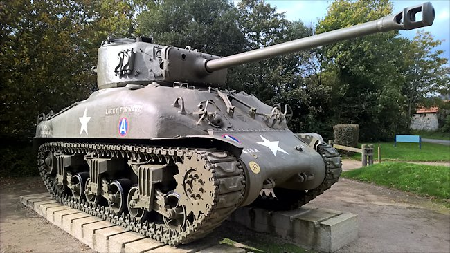 Surviving M4A1(76) Sherman Tank used in D-Day