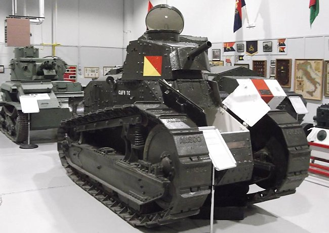 Surviving Canadian M1917 6-ton light tank