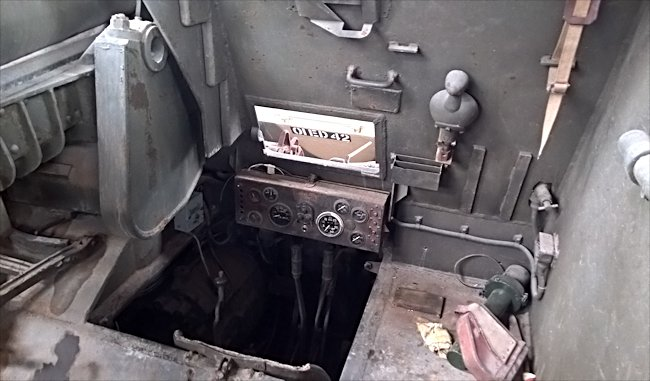 Preserved Canadian WW2 Sexton II Self Propelled Gun SPG Drivers seat