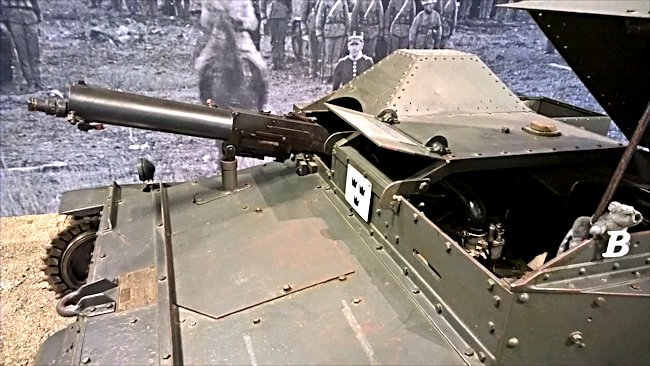 Surviving Swedish Carden Loyd MkVI tankette machine gun