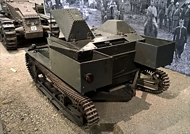 Rear view of a surviving Swedish Carden Loyd MkVI tankette