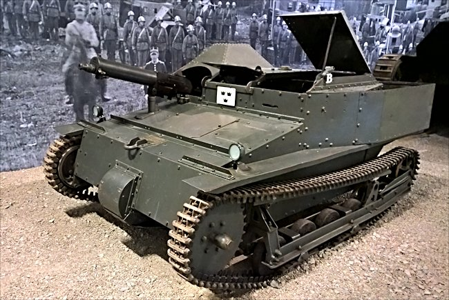 Surviving Swedish Carden Loyd MkVI tankette