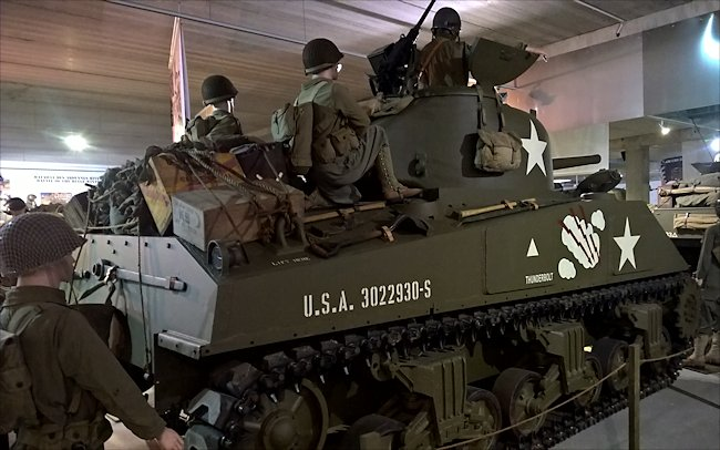 Preserved M4A2 Sherman used during D-Day