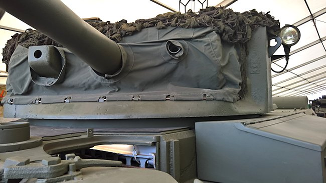 British Comet tank turret
