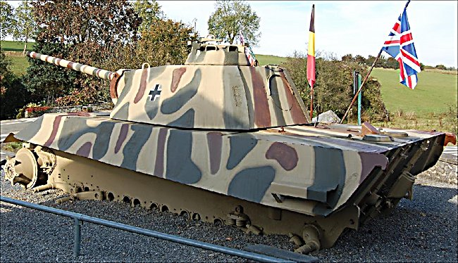 Surviving German Panzer V Panther Tank in the village of Celles Belgium Ardennes