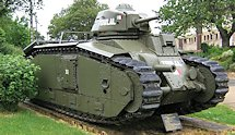 Surviving Char B1 bis Renault French WW2 Heavy Tank in Stonne
