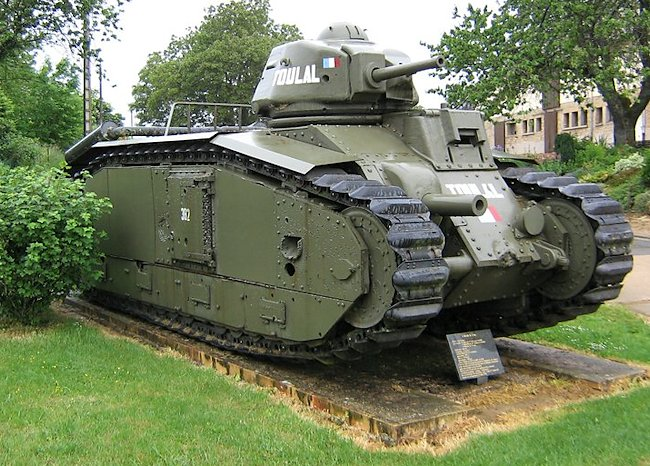 Surviving Char B1 bis Renault French WW2 Heavy Tank