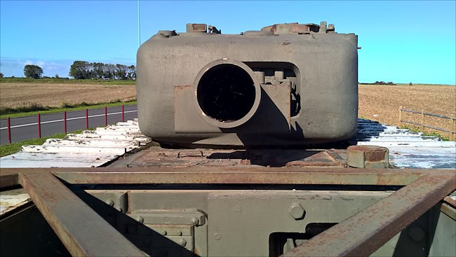 The Petard 290mm Spigot Mortar was fitted to the Churchill Mk IV ARVE tank