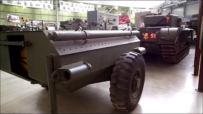 Surviving Churchill Crocodile Flame Thrower D-Day Tank Bovington Tank Museum