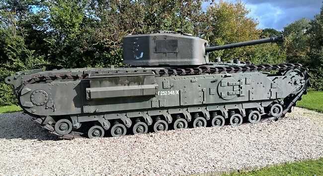 The Churchill tank was very long and designed to 