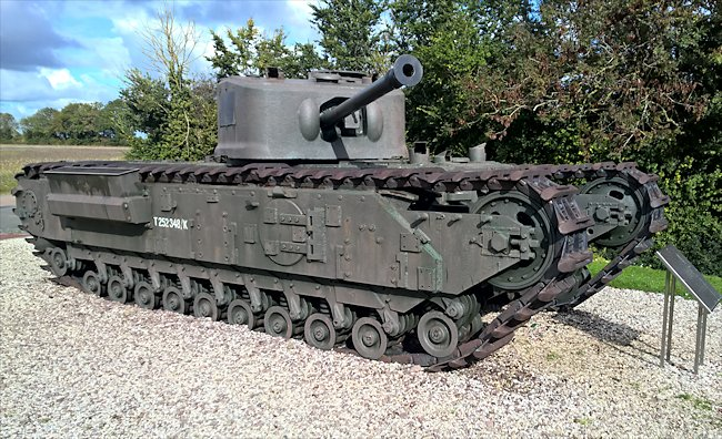 The side of the Churchill Mk VII tank was 