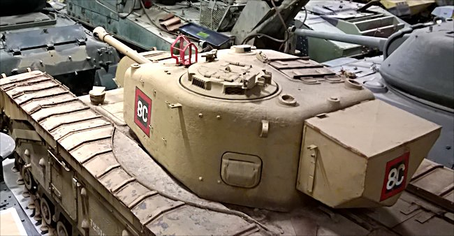 Turret view of a surviving British Churchill Mark IV Heavy Tank