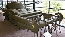 Surviving British WW2 Sherman Crab mine clearing flail Tank Holland