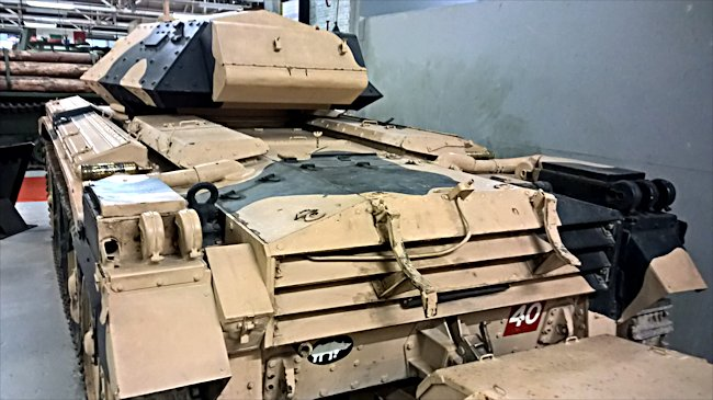 Rear view of a Surviving A15 British Crusader MkIII tank