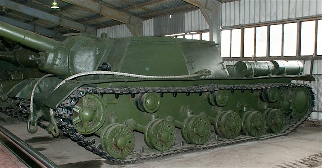 Surviving CY-152 Heavy Self Propelled Howitzer at Kubinka Tank Museum