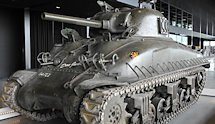 The Surviving British WW2 Sherman M4A1E9 Tank in Holland